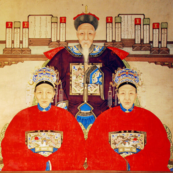 Ancestral Painting Man and Wives